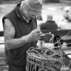 Traditional Lobster Pot Making - Newquay Harbour, Cornwall