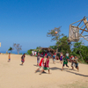 Mangyan people playing basketball on top of a mountain! Baclayan, Mindoro, Philippines