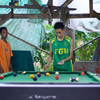 Mangyan locals playing poker pool!, Mindoro, Philippines